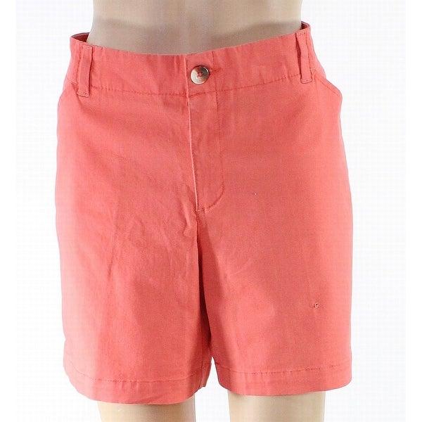 Lee Coral Orange Women's Size 16 Chino Bermuda Walking Shorts