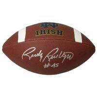 Rudy Ruettiger Signed Notre Dame Rawlings Brown Logo Football