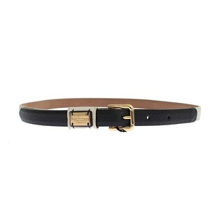 Dolce & Gabbana White Leather Gold Buckle Logo Waist Belt - 70-cm-28-inches