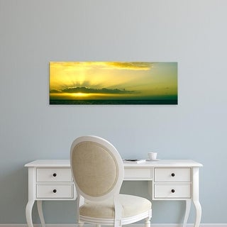 Easy Art Prints Panoramic Image 'Sunset over the Pacific ocean, La Jolla, San Diego, California' Canvas Art