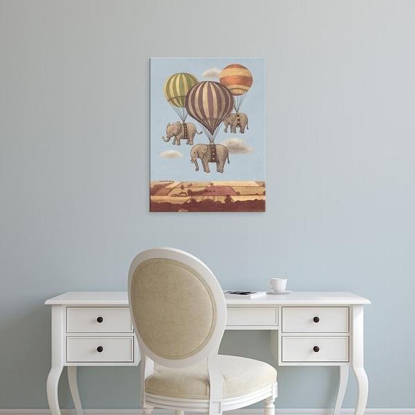 Easy Art Prints Terry Fan's 'Flight Of The Elephants Option' Premium Canvas Art