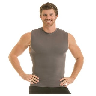 Insta Slim Pro Active Wear Sleeveless Crewneck Firming Under Shirt - Forza Gray