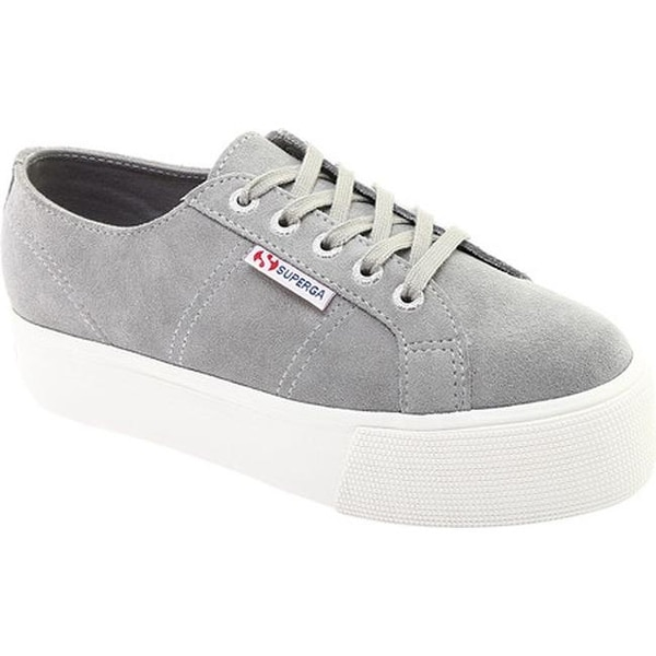22039115501 Shop Superga Women s 2790 Suecotlinw Flatform Sneaker Grey Suede ...