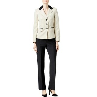 Le Suit Womens Pant Suit 2PC Colorblock