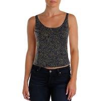 Alex Evenings Womens Petites Tank Top Knit Sleeveless