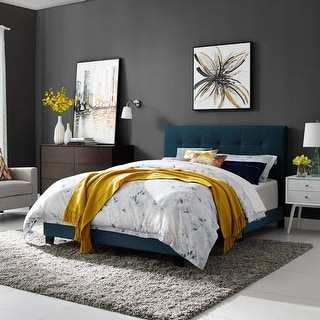 Link to Amira King Upholstered Fabric Bed Similar Items in Bedroom Furniture