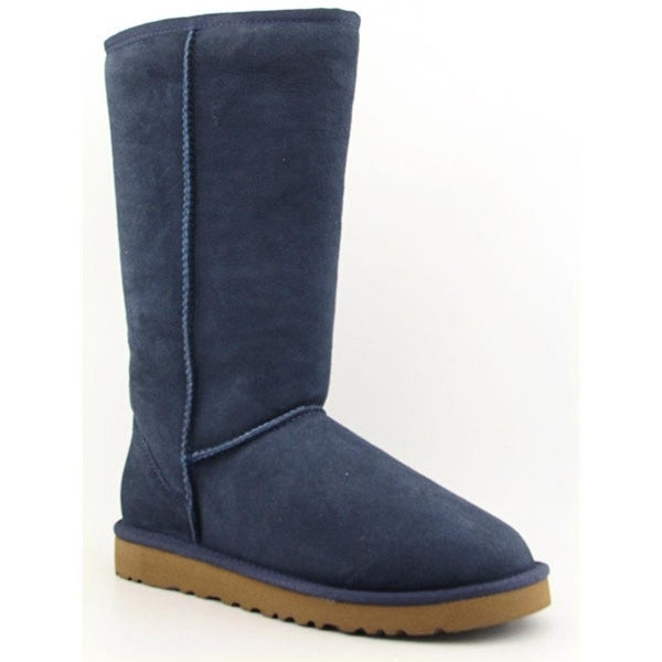 Ugg Australia Classic Tall Women Round Toe Suede Blue Winter Boot