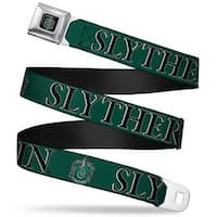 Slytherin Crest Full Color Harry Potter Slytherin & Crest Green Black Seatbelt Belt