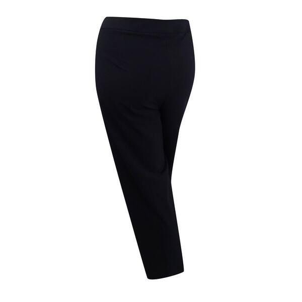 Calvin Klein Women\'s Plus Size Wide-Leg Dress Pants (16W, Black) - Black -  16W