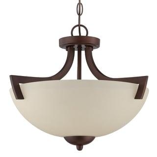 Craftmade 37753 Almeda 3 Light Convertible Semi-Flush Ceiling Fixture - 18 Inches Wide