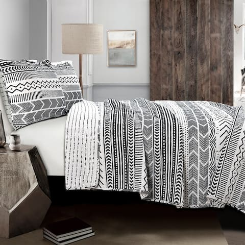 Lush Decor Hygge Geo 3 Piece Quilt Set