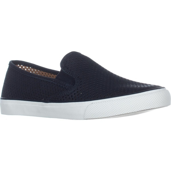 Sperry Top-Sider Seaside Perforated Slip On Fashion Sneakers Perfs Black