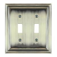 AmerTac 94TTBB Amerelle Continental 2 Toggle Wallplate, Brushed Brass
