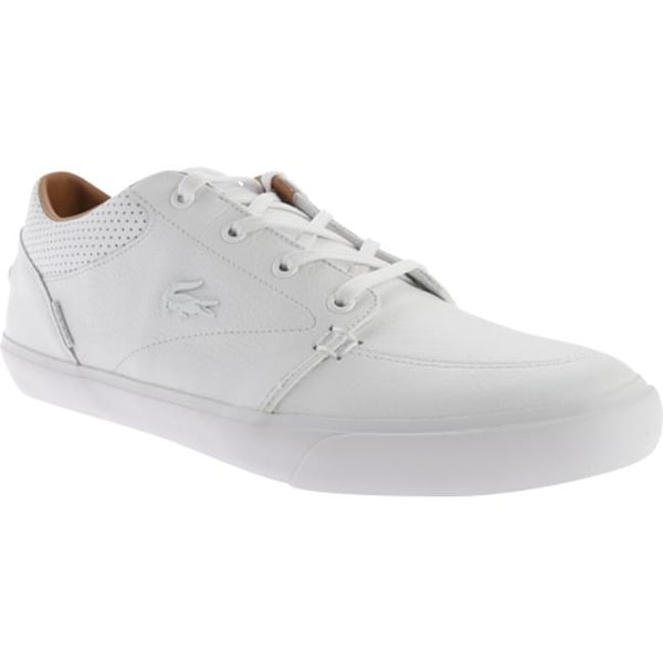 9b40150c37 Shop Lacoste Men's Bayliss Vulc PRM White Leather/Synthetic - Free ...