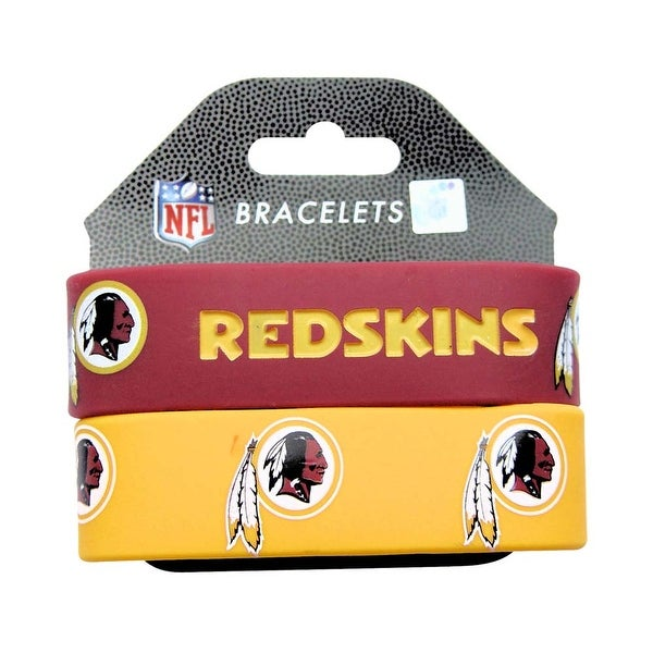 Washington Redskins Rubber Wrist Band (Set of 2) NFL