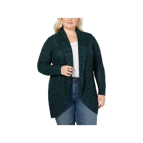 Planet Gold Womens Cardigan Sweater Knit Open Front - 3X