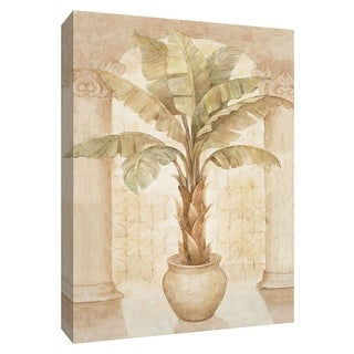 """PTM Images 9-154658  PTM Canvas Collection 10"""" x 8"""" - """"Patio Palm I"""" Giclee Palm Trees Art Print on Canvas"""