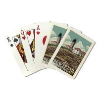 Jamestown RI - Beavertail Lighthouse - LP Artwork (Poker Playing Cards Deck)