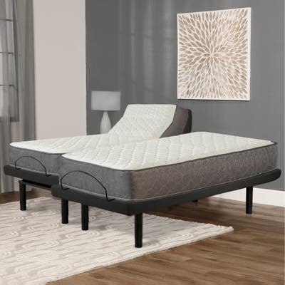"""9"""" Pocketed Coil Rolled Medium Plush Mattress With Cover for Adjustable Bed"""