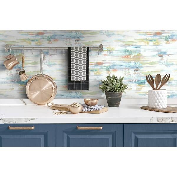 Soledad%2C Brushed Stripe 18%27 x 20.5%22 Peel %26 Stick Wallpaper Roll