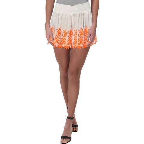 Ramy Brook Womens Peasant, Boho Skirt Mini Embroidered - S