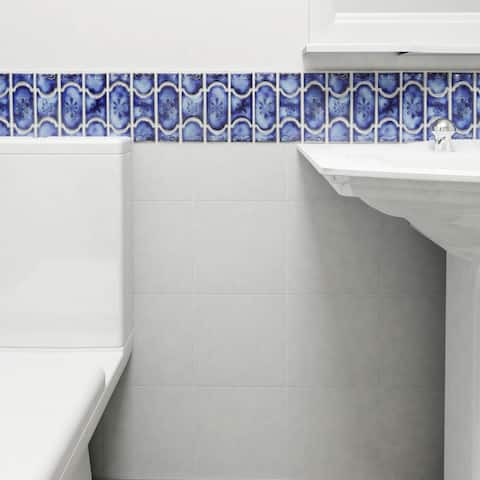SomerTile 12.25x12.5-inch Tryall Sapphire Porcelain Mosaic Floor and Wall Tile