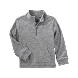 OshKosh B'gosh Baby Boys' Mock-Neck Pullover, Gray, 18 Months - gray