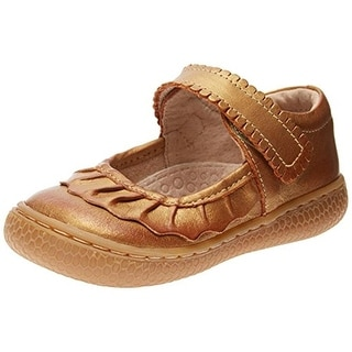 Livie & Luca Girls Ruche Toddler Leather Mary Janes - 5 medium (b,m)
