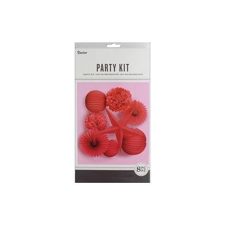 Darice Kit Party Hanging Decor Red 8pc