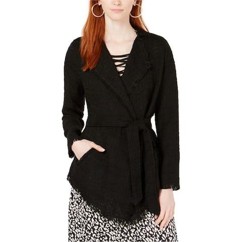 Ginger Womens Lace Boucle Jacket