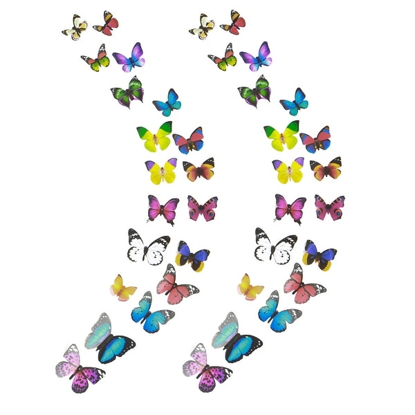 38pcs 3D Butterfly Wall Stickers Decal for Home Bedrooms DIY Art Decor