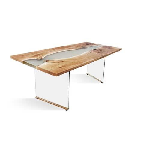 BANUR-GL Solid Wood Dining Table - Oak