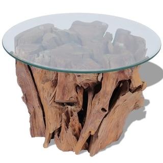 "vidaXL Coffee Table Solid Teak 23.6"""