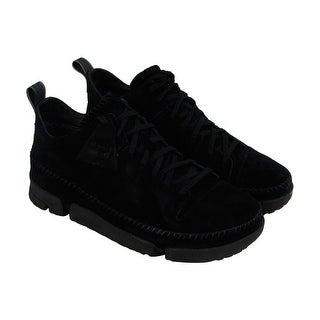 Clarks Trigenic Dry Gtx Mens Black Suede Athletic Lace Up Training Shoes