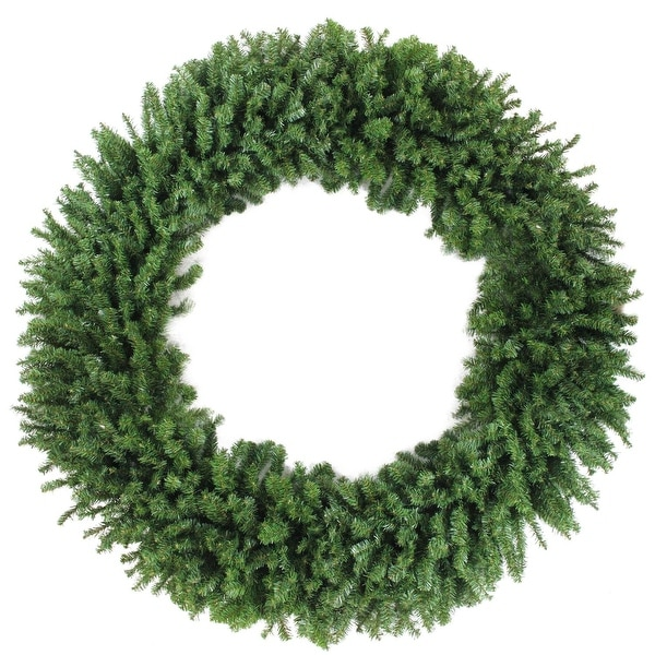 6' Commercial Size Canadian Pine Artificial Christmas Wreath – Unlit