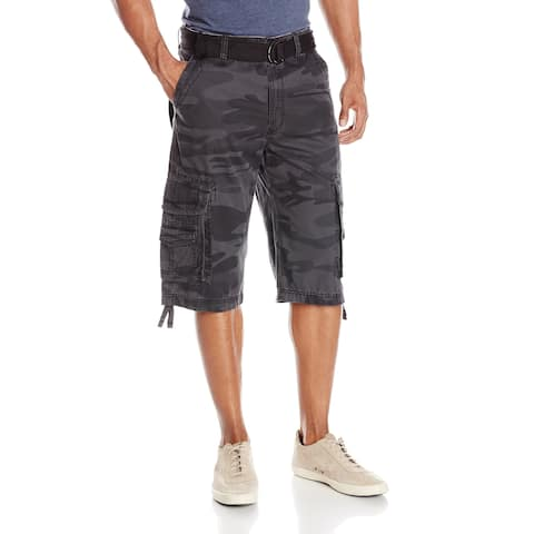 Unionbay Mens Shorts Gray Size 32 Athletic Camouflage Belted Cargo