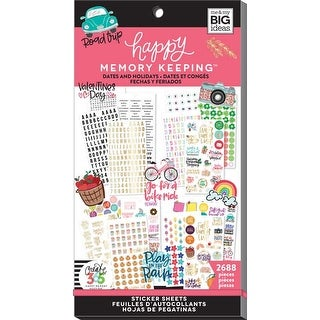 Dates & Holidays; 2688/Pkg - Happy Memory Keeping Sticker Value Pack