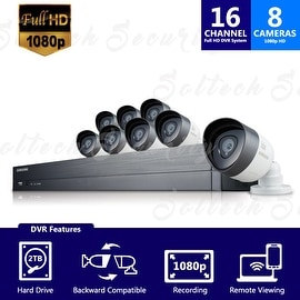 SDH-C75080 - Samsung 16 Channel 1080p HD 2TB Security System with 8 Cameras