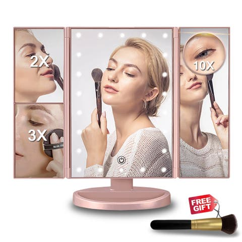 22 LED 2/3X Magnifying Lighted Makeup Mirror - M
