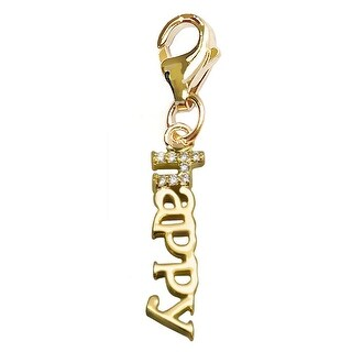 Julieta Jewelry 'Happy' Handwriting Clip-On Charm