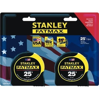 Stanley FMHT74038 FatMax Tape Measure, 25', 2-Pack