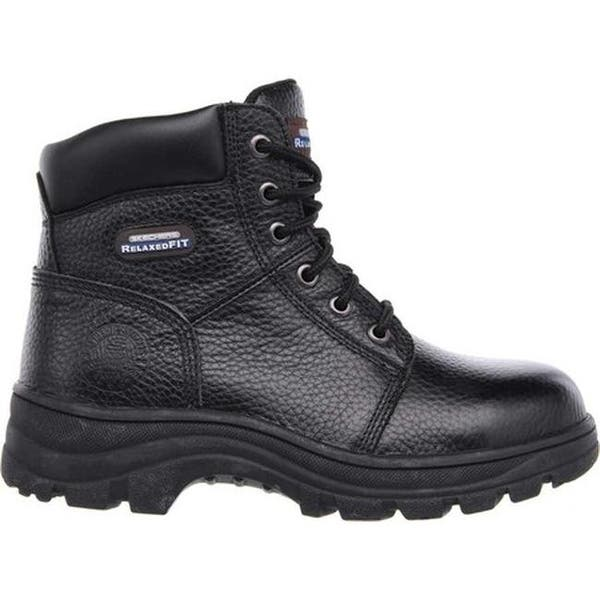 85be6ef82d297 ... Skechers Women's Work Relaxed Fit Workshire Peril Steel Toe Black ...
