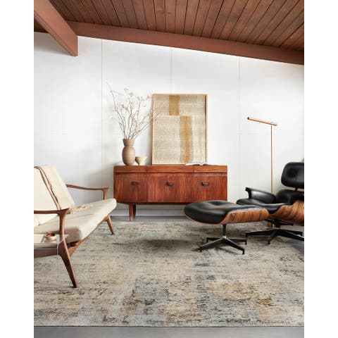 Alexander Home Alexis Modern Industrial Abstract Area Rug
