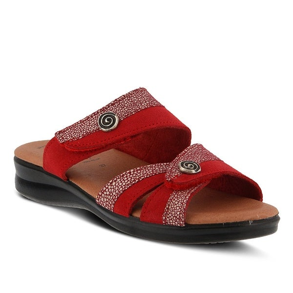 Flexus by Spring Step Womens Quasida Slide Sandal RedMulti Size 50