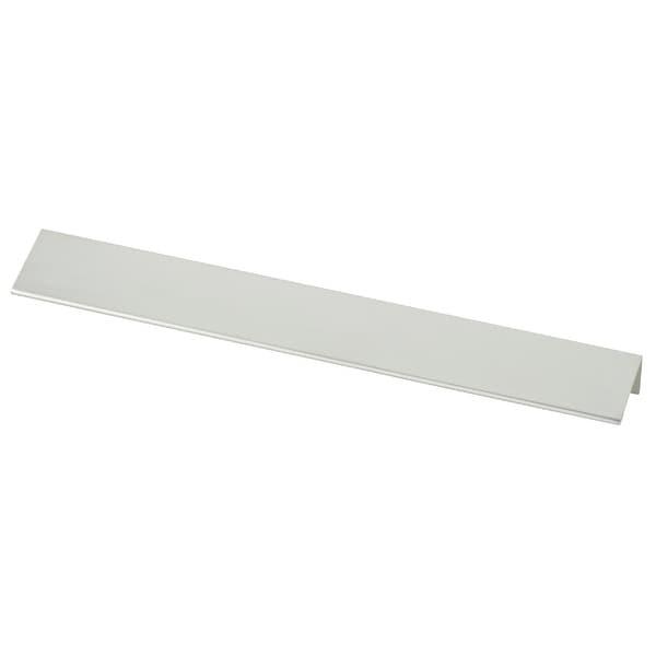 Modern Edge 10-1/16 Inch Center to Center Finger Cabinet Pull - Aluminum