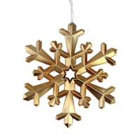 "8.75"" Nature's Luxury Snowflake Commercial Size Copper Christmas Tree Ornament"