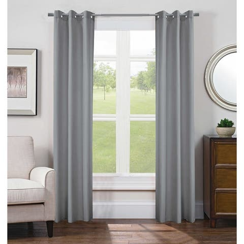 """Silky Curtains 84 inches Long Faux Silk Opaque Curtain Light Filtering Living Room Satin Drapes, Grommet Top, 2 Panels - 40""""x84"""""""