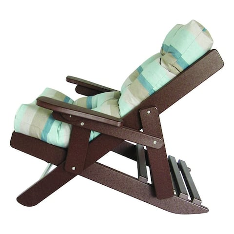Folding and Reclining Siesta Chair - Tudor Brown Recycled Plastic/Poly Lumber