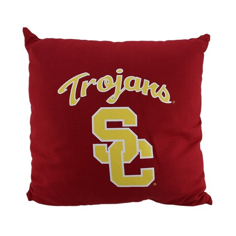 NCAA University of Southern California Trojans Team Color Throw Pillow 18 inch - Red