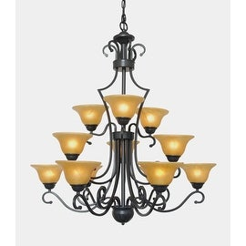 Versailles Wrought Iron 12 Light Chandelier